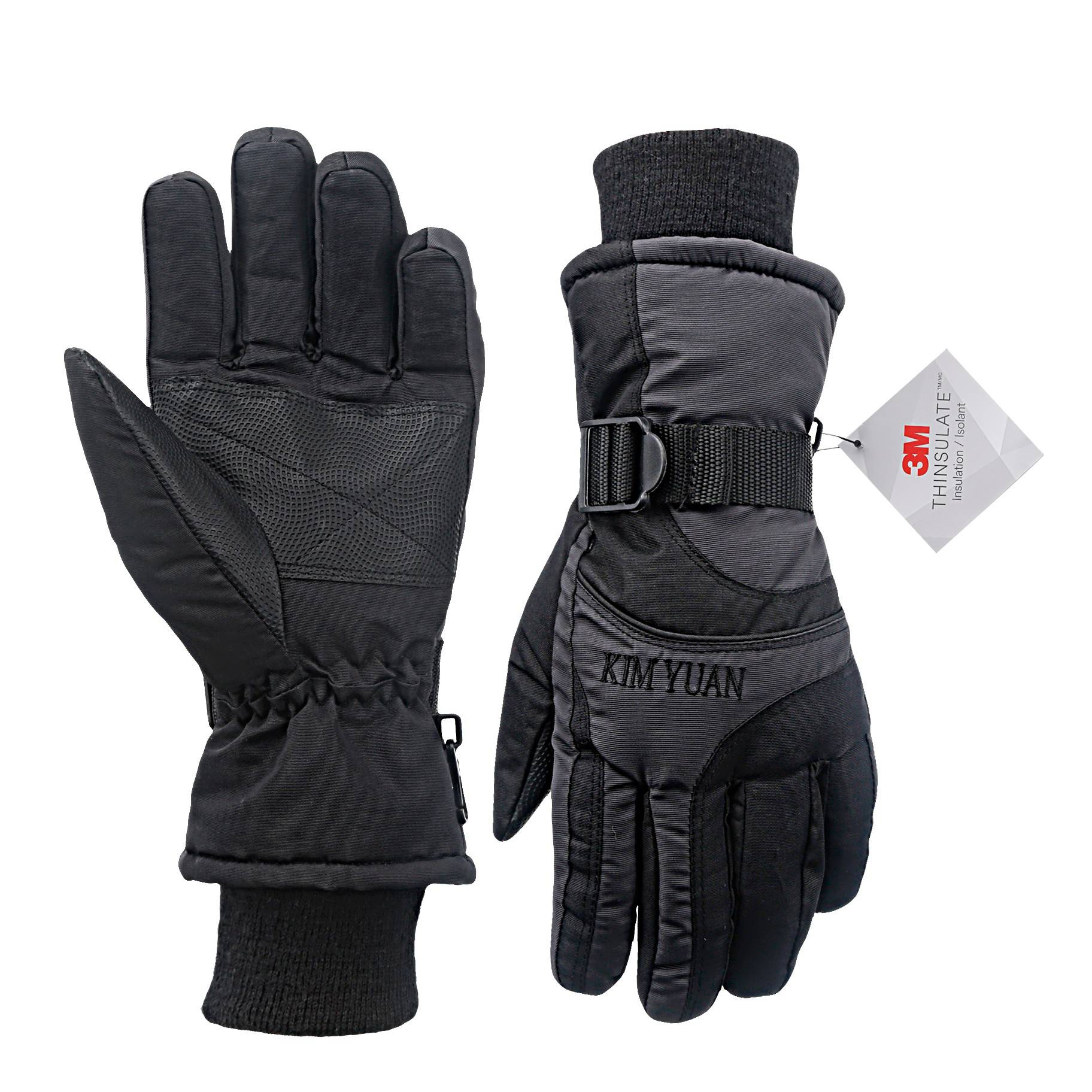 KIM YUAN Ski Snowboard Winter Gloves - Waterproof,3M Thinsulate, Cold Weather Gloves for Men & Women