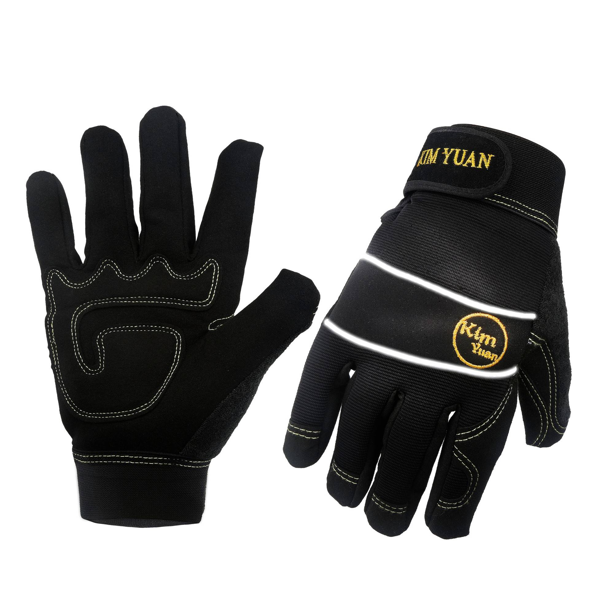 KIM YUAN Mechanic General Utility Breathable Work Gloves Touch Screen, Skid/Abrasion Resistant, Pefect for Warehouse, Construction, Outdoor, Men & Women