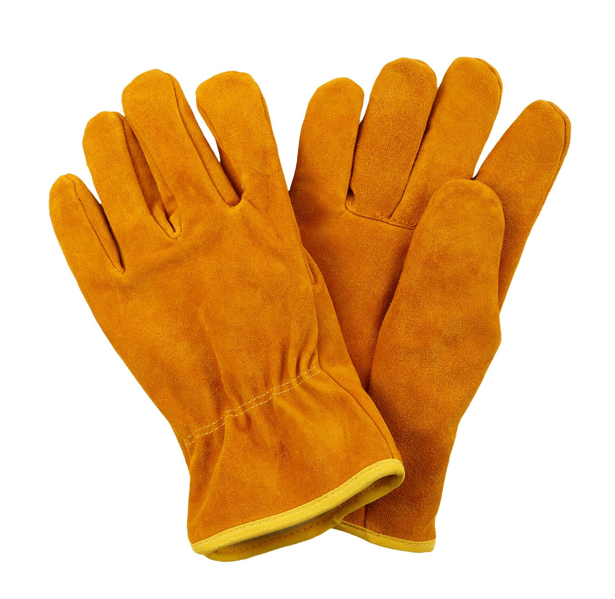 KIM YUAN Cowhide Winter Warm Windproof Security Protection Working Gloves for Construction/Driver/Yard work, Men&Women