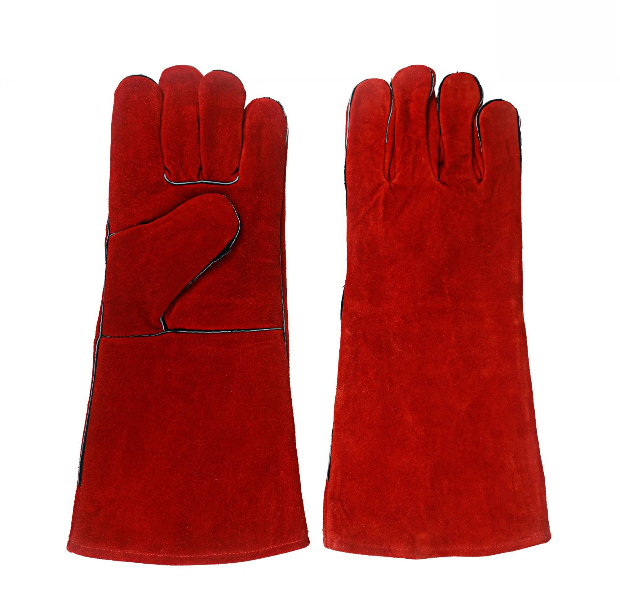 KIM YUAN Leather Welding Gloves - Heat/Fire Resistant, Perfect for Welder/Oven/Fireplace/Animal Handling/BBQ