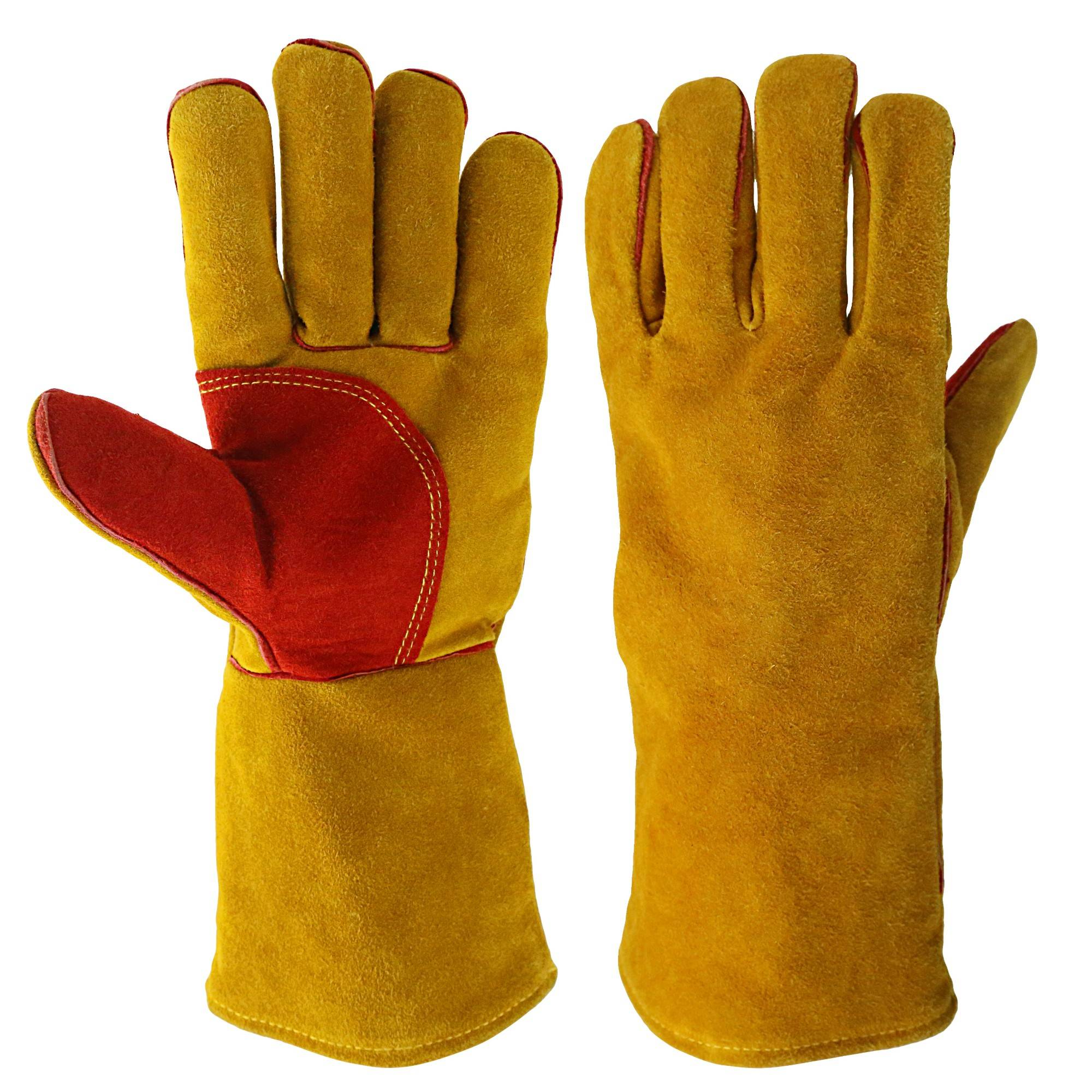 KIM YUAN Welding Gloves Heat Resistant for Welder/Cooking/Baking/Fireplace/Animal Handling/BBQ