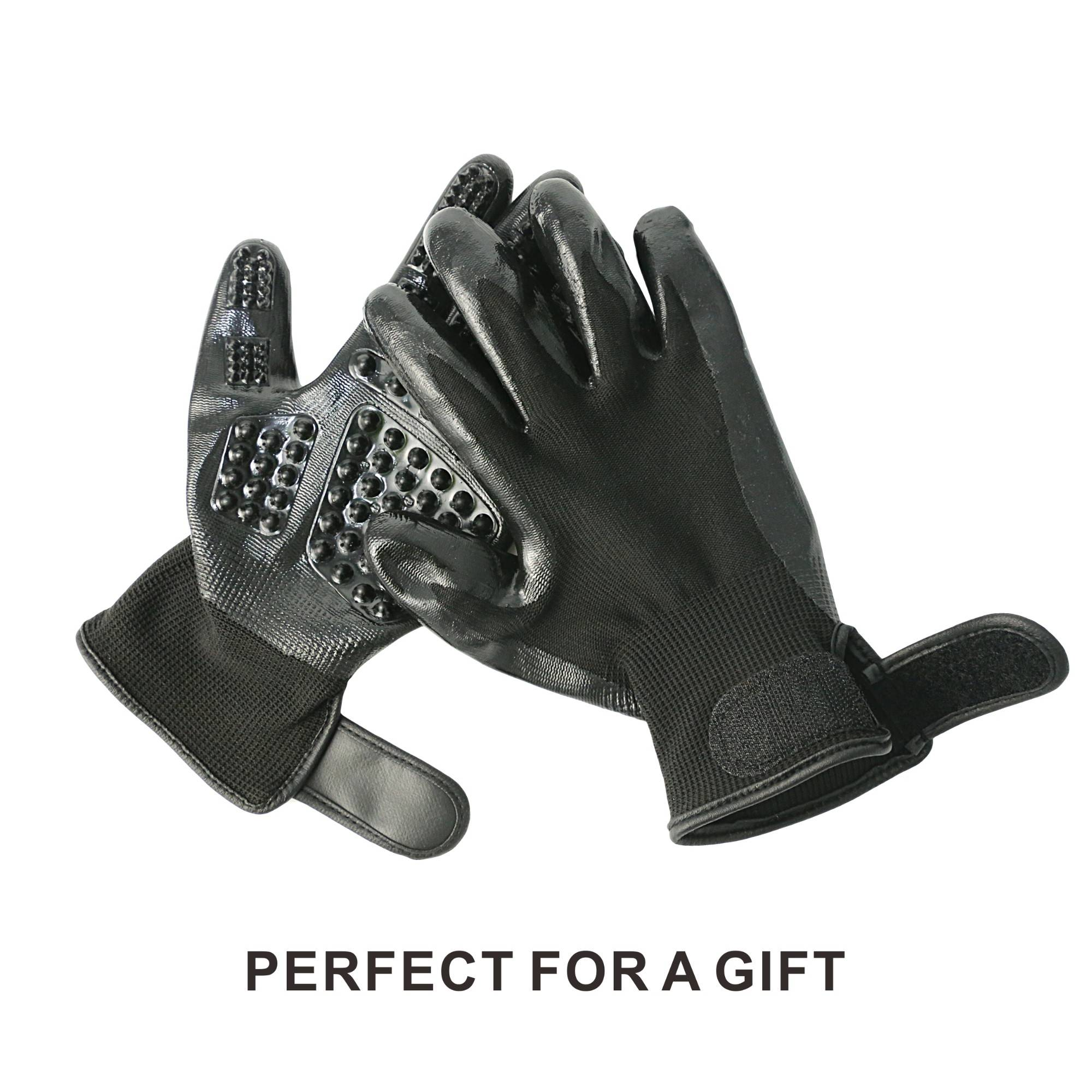 KIM YUAN Gloves-Left&Right-Enhanced,Five Finger Design-for Cats,Dogs&Horses-Long&Short Fur-Gentle,De-Shedding