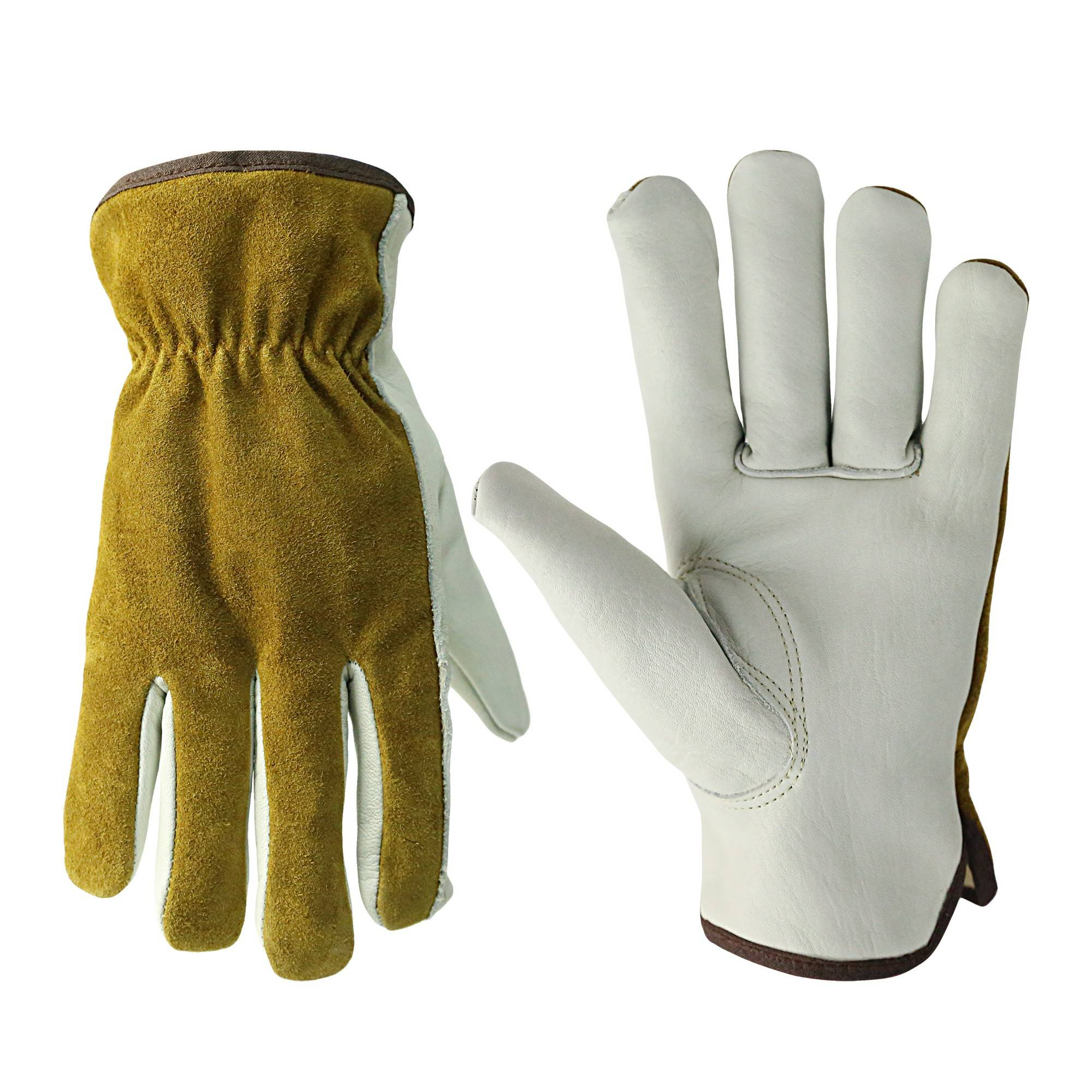 KIM YUAN Work Gloves with Elastic Wrist for Men&Women-Good Grip&Flexible for Riding/Truck Driving/Warehouse/Gardening/Farming